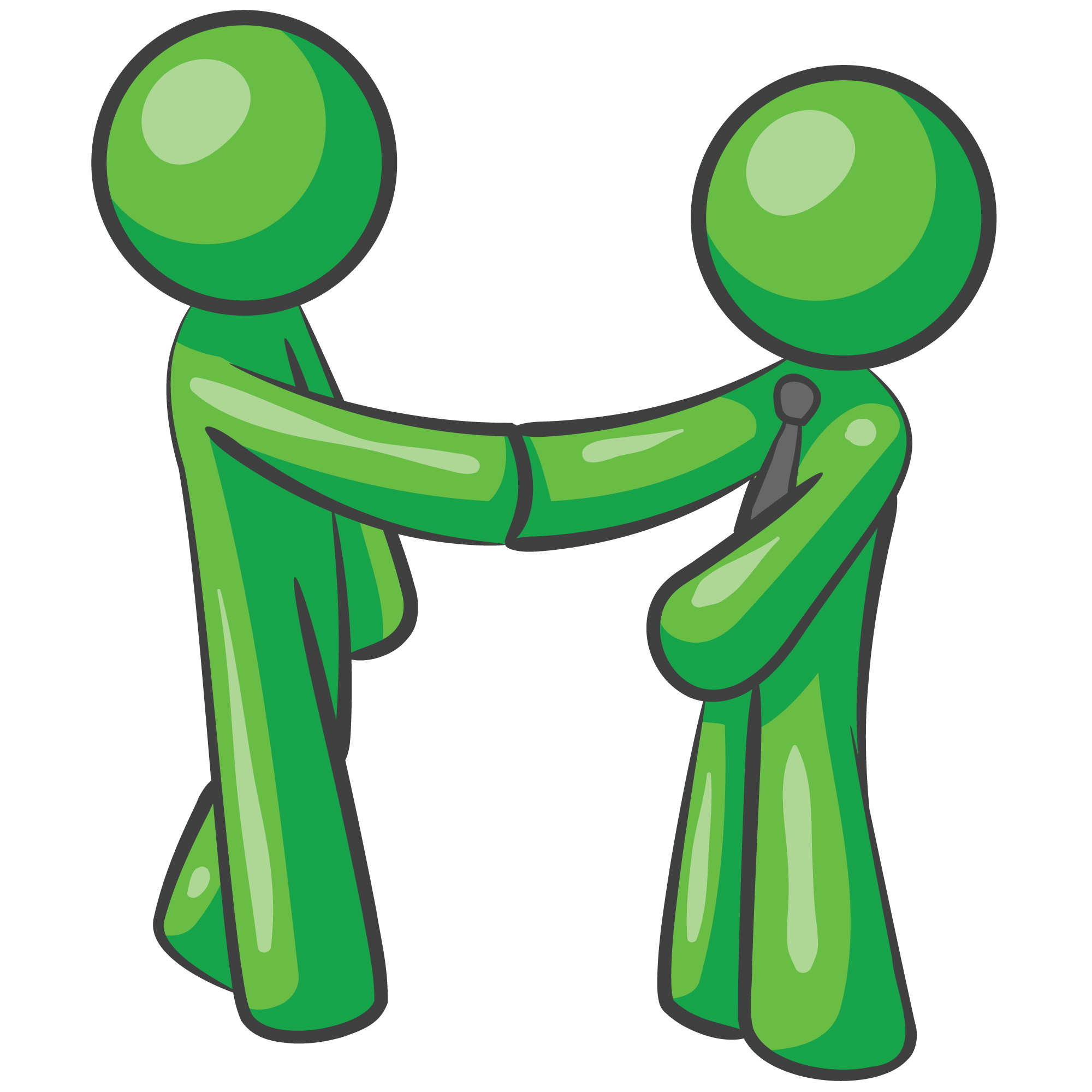 green_man_shaking_hands