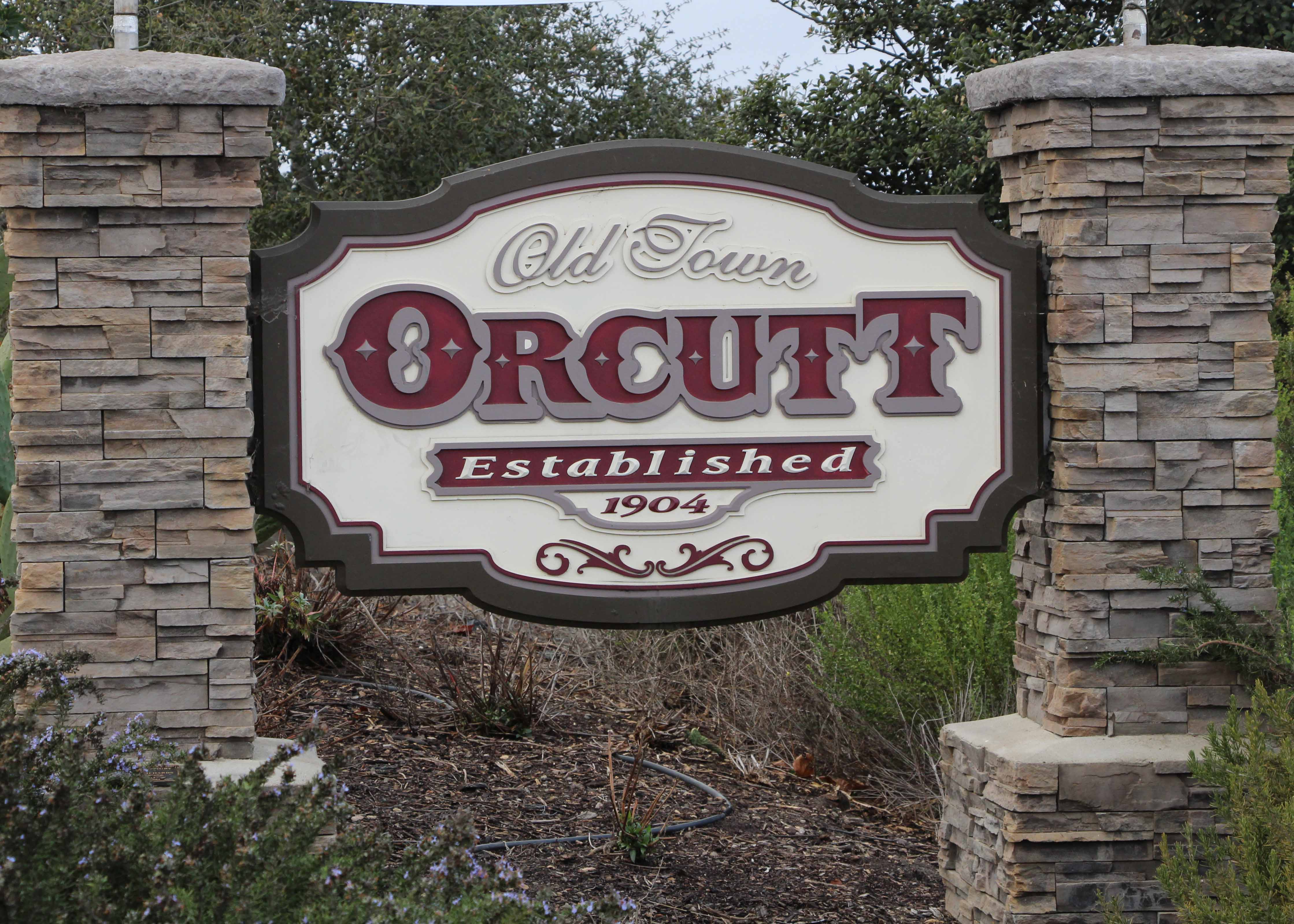 Old Orcutt Ca Welcome Sign
